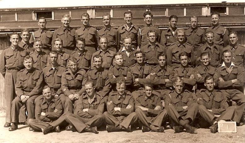 """Taken in 1943. H.V. """"Ginger""""Suggit is second from the left on the back ... Pegasus"""